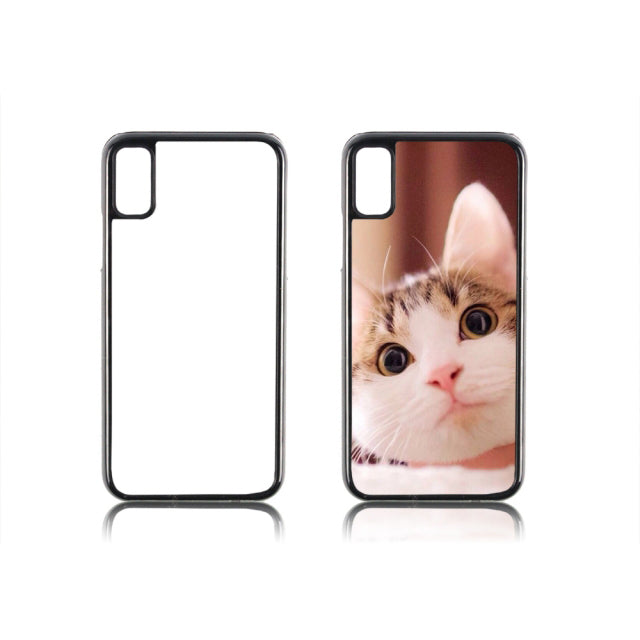 "iPhone XS 5.8""/iPhone X(10) Sublimation Blank 2D Hard Plastic Phone Case Cover"