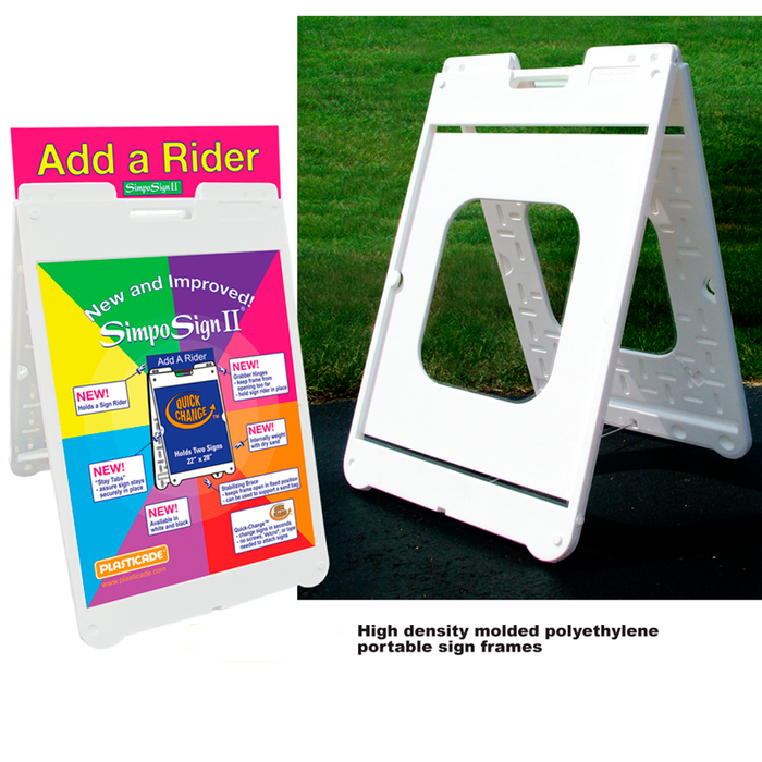 "SimpoSign II Sign Stands - 36""hx24""w"