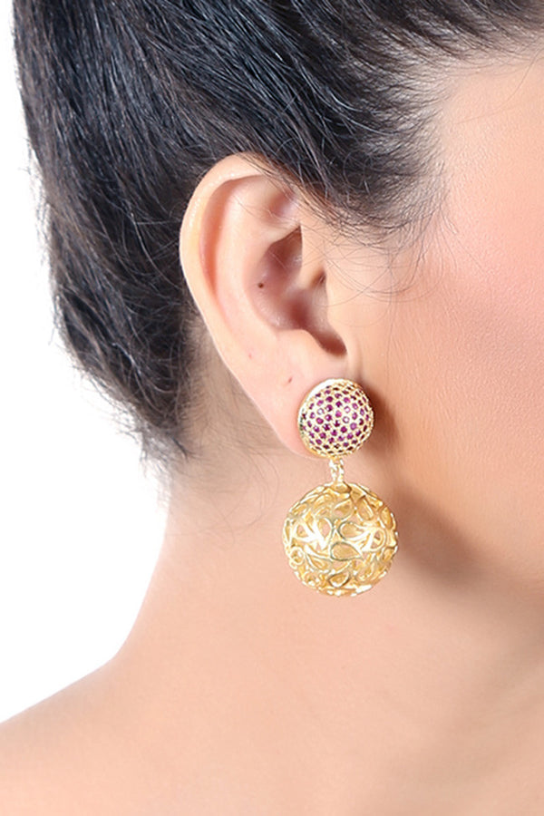 Dangler Earring with Sapphire Stone