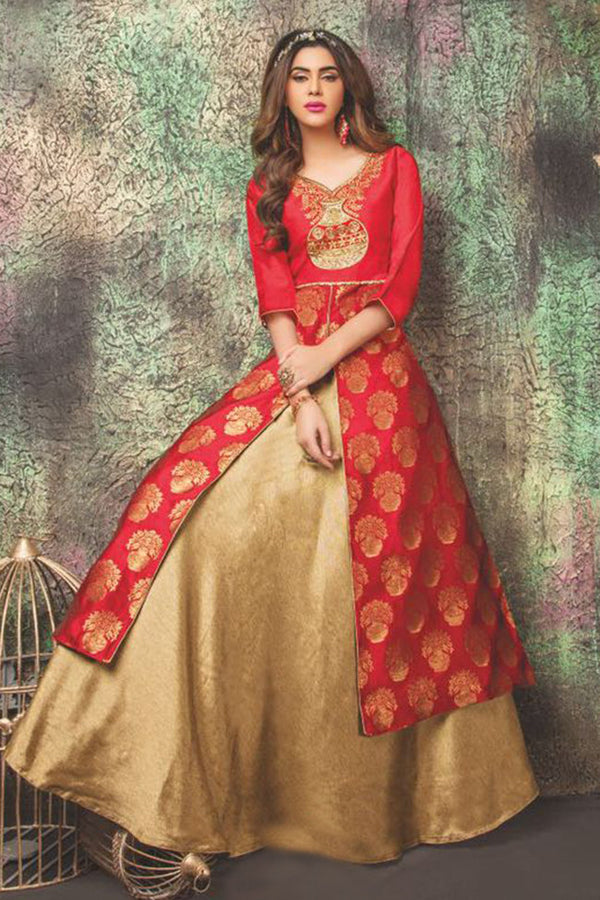 Long dress kurti lehenga