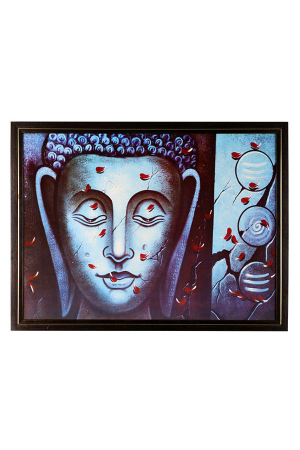 Beautiful Painting Of Lord Buddha Featuring Peace