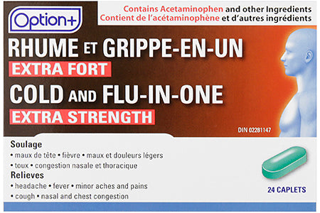Option+ Cold & Flu-in-one Extra Strength (24) Caplets