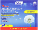 Option+ Allergy Remedy Loratadine 24hr