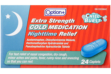 Option+ Cold Medication Extra Strength Nighttime