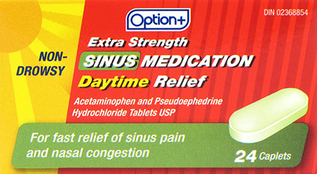 Option+ Extra Strength Sinus Medication Daytime Relief