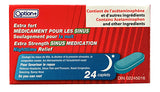Option+ Extra Strength Sinus Medication Nighttime Relief (24 caplets)