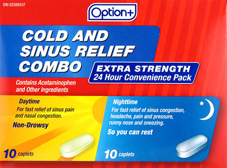 Option+ Cold & Sinus Relief Combo Extra Strength