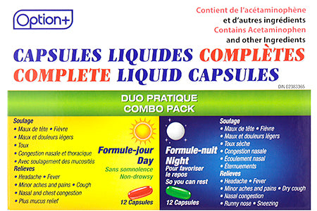 Option+ Complete Liquid Capsules Day/Night