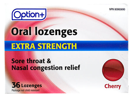 Option+ Oral Lozenges Extra Strength Cherry (36)
