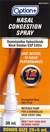 Option+ Nasal Congestion Spray 12 Hour
