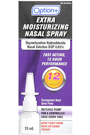 Option+ Extra Moisturizing Nasal Spray 15ml