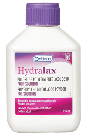 Option+ Hydralax Polyethylene Glycol Powder 510g