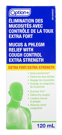 Option+ Mucus and Phlegm with Cough Control Extra Strength