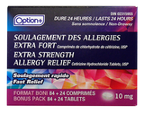 Option+ Allergy Relief Extra Strength 84+24