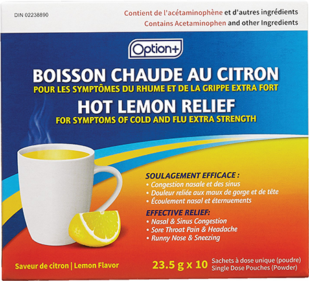 Option+ Hot Lemon Relief