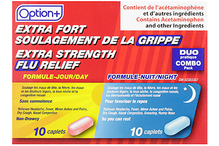 Option+ Flu Medication Extra Strength Day and Night Relief