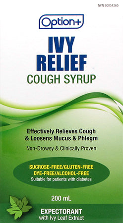 Option+ Ivy Relief Cough Syrup Adult