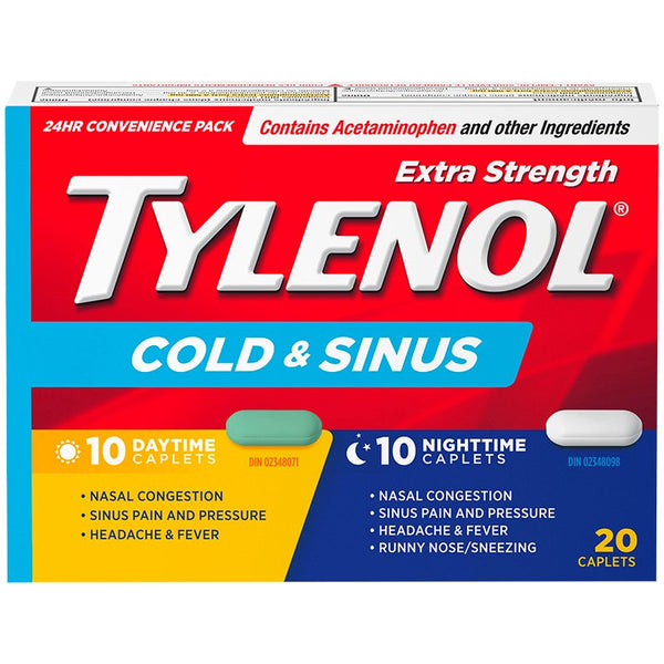 Tylenol Cold and Sinus Day and Nigh Extra Strength