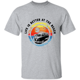 Life Is Better At The Beach-Volkswagen Beetle Bus T-shirt