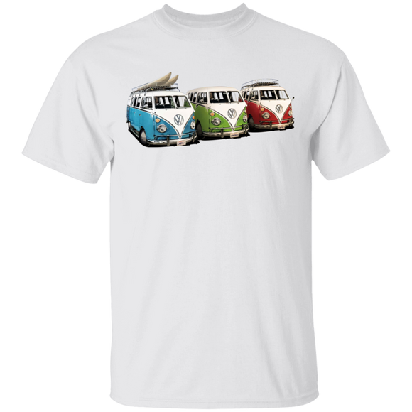 3 Bus - Volkswagen Beetle Bus T-shirt