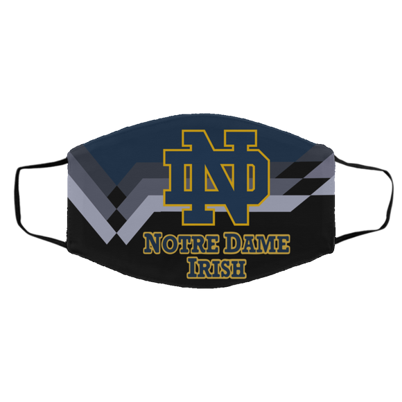 Notre Dame Fighting Irish Protective Face Mask Cotton mask Washable mask Face Covering reusable mask fabric mask made in USA