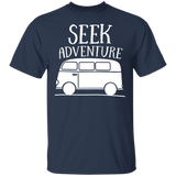 Seek Adventure T-shirt Volkswagen Beetle Bus