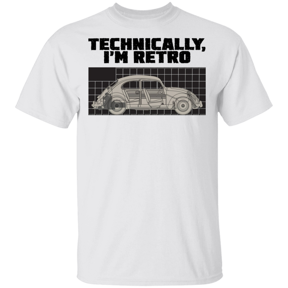 Technically, I'm retro-Volkswagen Beetle T-shirt