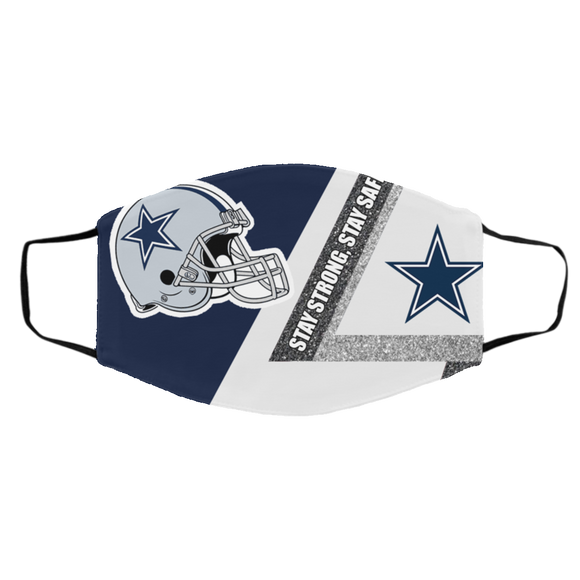 Dallas Cowboys stay strong stay safe face mask Gift, Washable Lawyer UK Mask Filter 1