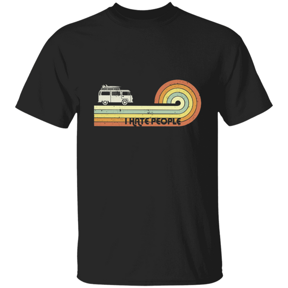 I hate people - Volkswagen Beetle Bus T-shirt