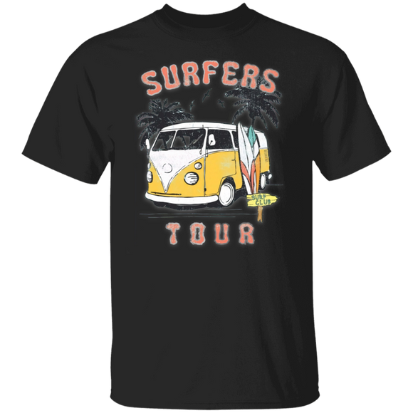 Surfers Tour - Volkswagen Beetle Bus T-shirt
