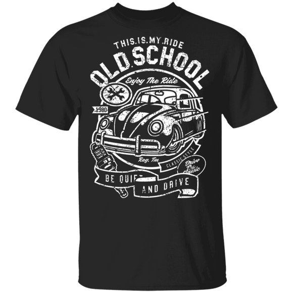 This Is My Ride Old School Enjoy The Ride-Volkswagen Beetle T-shirt