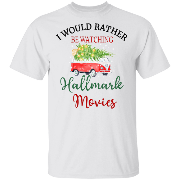 I Would Rather Be Watching Hallmark Movies-Volkswagen Beetle Bus T-shirt