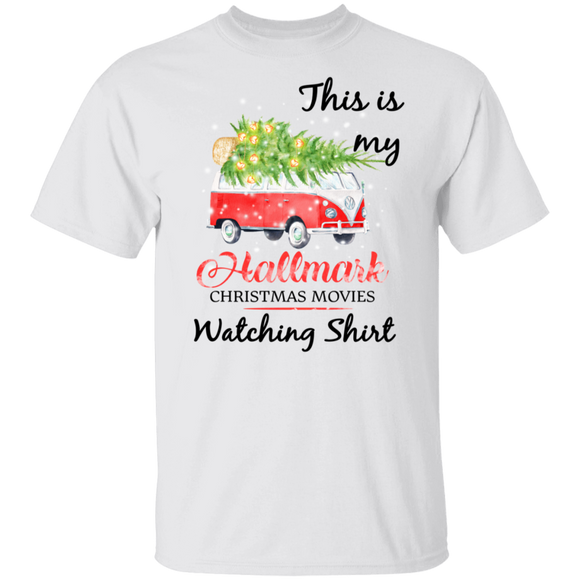 This Is My Hallmark Christmas Movies Watching Shirt - Volkswagen Beetle Bus T-shirt