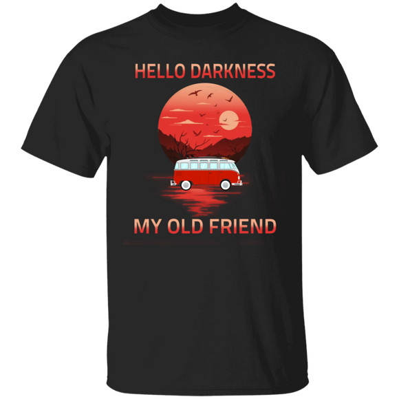 Hello darkness, my old friend - Volkswagen Beetle Bus T-shirt