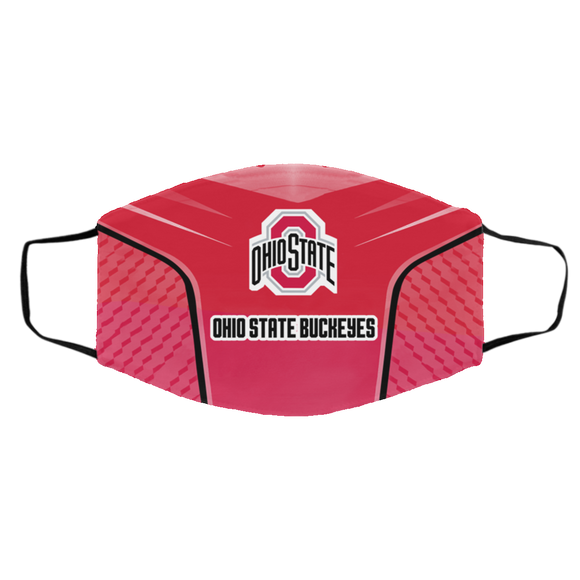Ohio State Buckeyes Style 5 Face Mask, Adult Face Mask, Sport Face Mask, Reusable Face Mask, Washable Face Mask