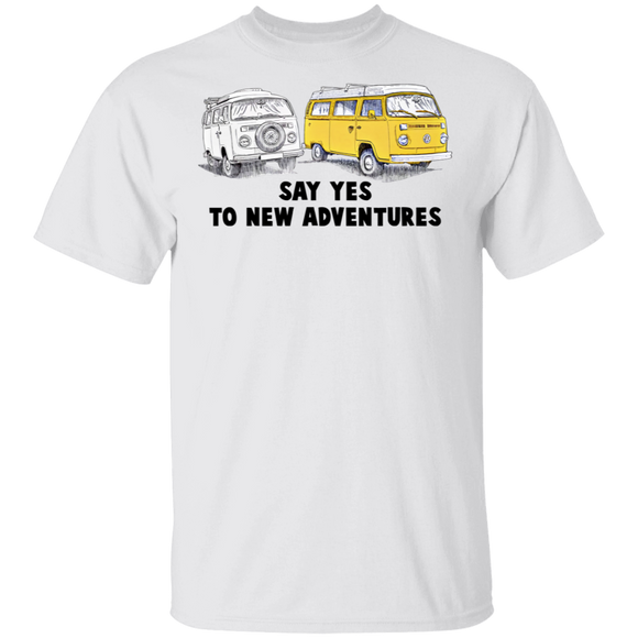Say Yes To New Adventures-Volkswagen Beetle Bus T-shirt