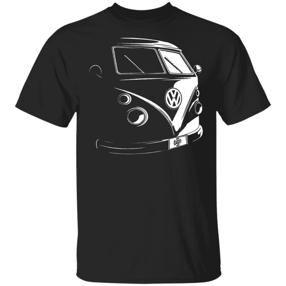 Camper Bus-Volkswagen Beetle Bus T-shirt