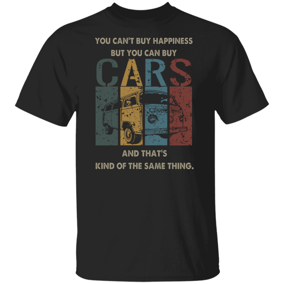 You Can't Buy Happiness But You Can Buy And That's Kind of The Same Thing - Volkswagen Beetle Bus T-shirt