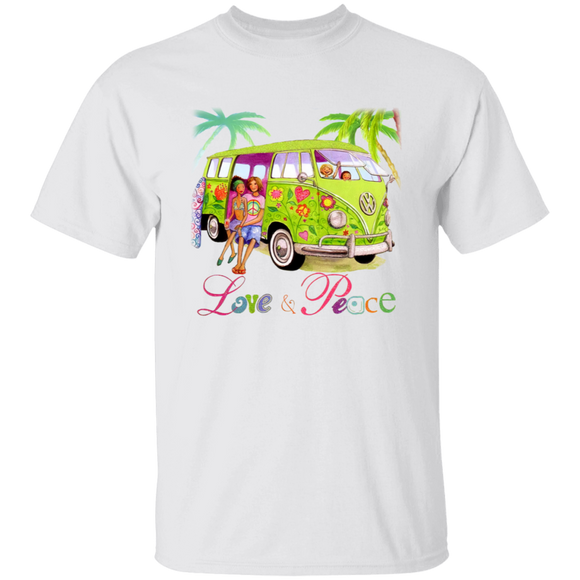 Love & Peace-Volkswagen Beetle Bus T-shirt