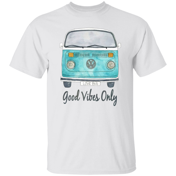 Good Vibes Only, Love Bug-Volkswagen Beetle Bus T-shirt