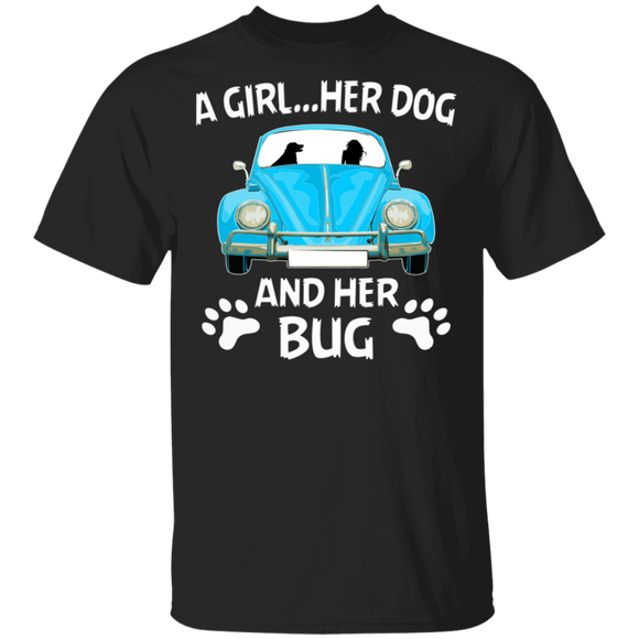 A Girl...Her Dog And Her Bug