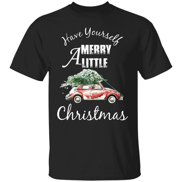 Have Yourself Merry A Little Christmas - Volkswagen Beetle T-shirt
