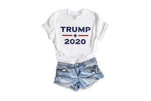 Trump 2020 T Shirt Donald Trump T Shirts, Trump Gifts, Womens Trump Clothing, Republican T Shirts, Pro Trump Train MAGA Ladies Trump Tee