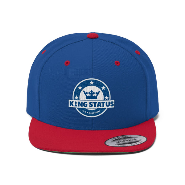 Blue King Status Flat Bill Snapback Hat