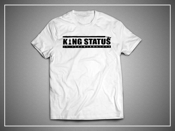 King Status 1 - Black Logo on White