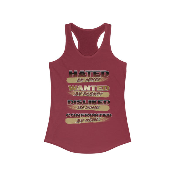 Women's Ideal 'Hated by Many' Racerback Tank-Top