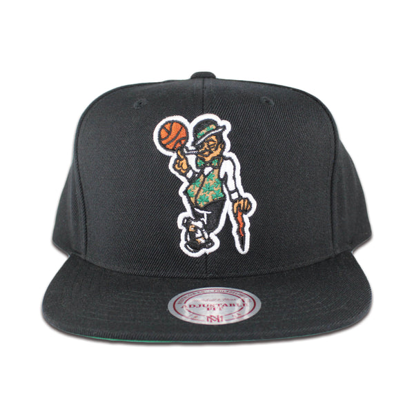 www.levels613.com Class: Men's Boston Celtics Snapback Hat Fabric: 80% Acrylic/20% Wool Detail Print: Raised Embroidered Front Logo, Mitchell & Ness Logo on Back Color: Black Size: OSFA Comfortable Affordable Authentic Unique High-Quality Long Lasting Fresh All-Season Summer Fall Winter Spring Gear Urban Streetwear Men Women Unisex