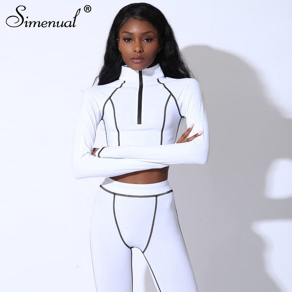 Women's Casual Fitness Tracksuit (2 Piece Matching Set)