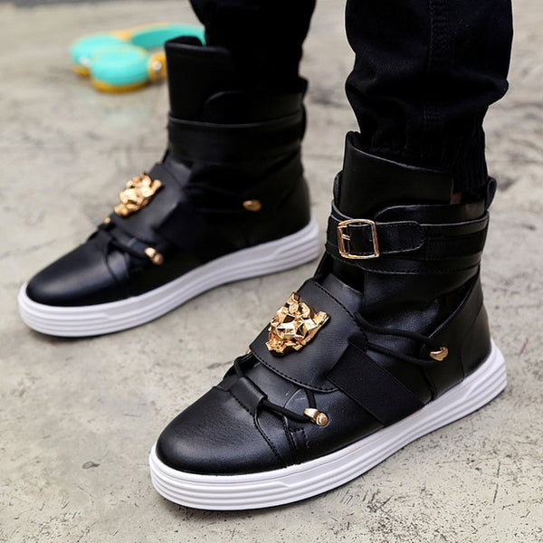 Men's GZ Punk Rivet High-Top Ankle Boots