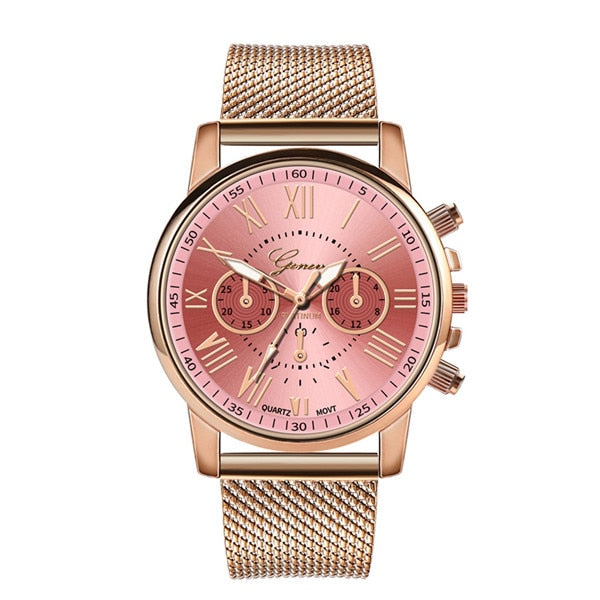 Women's Designer Quartz Luxury Stainless Steel Watch